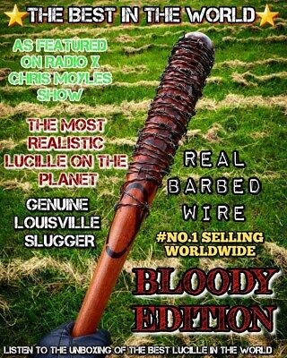 'The Walking Dead Negan's Lucille Bat Replica, wood, real barbedwire!