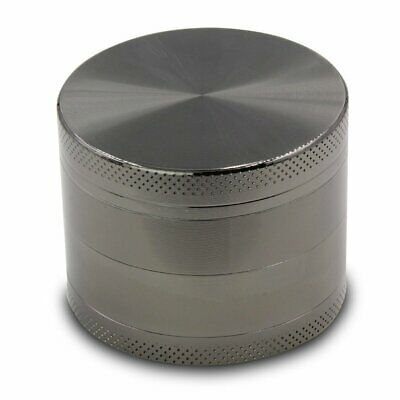 Tobacco Herb Spice Grinder Tobacco Smoke Cigar Crusher Small Metal Gray 4 Layer