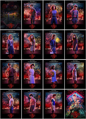 16PC Stranger Things Season 3 (2019) Mirror Surface Postcard Poster Promo Card A