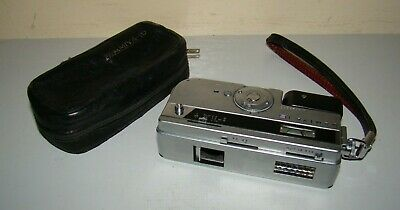 Vintage MAMIYA 16 Subminiature Camera + Case - Early Model 1960's