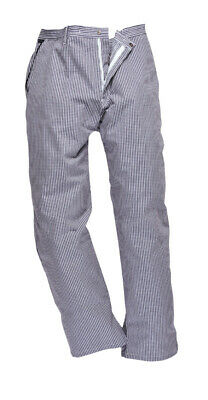 Chef's Care Unisex Small Check Chef Trousers – Blue or Black Check  – 4XL