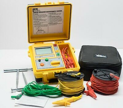 Ideal Industries 61-796 Earth Ground Resistance Tester 200V AC 2000 Ohms TL-796