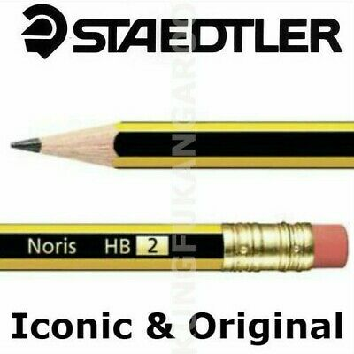 1 to 50 STAEDTLER NORIS PENCILS with ERASER RUBBER TIP HB DRAWING SCHOOL OFFICE