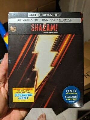 Shazam! - Best Buy Steelbook (Blu-ray + 4K UHD) BRAND NEW!! DC