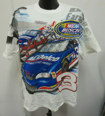 626f6737648e Dale Earnhardt Rusty Wallace Large Shirt 4 Sided Nascar Mens Vintage Retro  Vtg