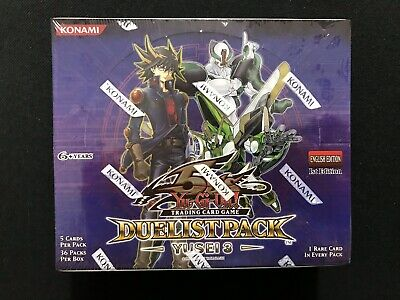 YuGiOh English Duelist Pack #8 Yusei 1st Ed Booster Box NEW /& FACTORY SEALED^