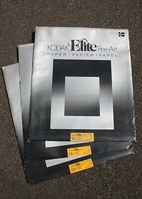 "195738 *EXPIRED* 3 Pkgs Kodak Elite 20 x 24"" Grades 2 & 3 B&W Photo Paper As-Is"