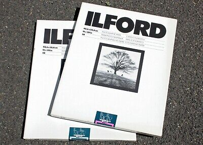 195741 *EXPIRED* Ilford Multigrade RC Glossy & Pearl 16x20 B&W Photo Paper As-Is
