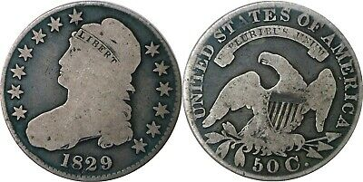 1829 50C Capped Bust Half Dollar Good