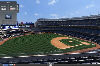 4 Yankees Terrace tickets for Tuesday Night, Aug 13th vs Baltimore