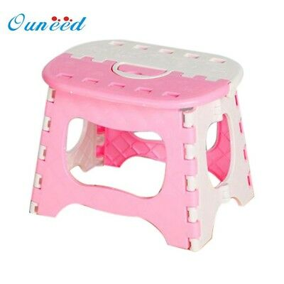 Plastic Multi Purpose Folding Step Stool Home Train Outdoor Storage  Portable