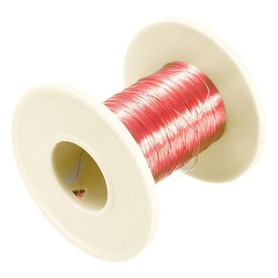 1pc 0.2mmx100m Red Copper Magnet Wire Welding Cable Enameled Wire Magnetic Coil