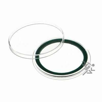 (25) Air-tite 40mm Green Velour Colored Ring Coin Holder Capsules for American