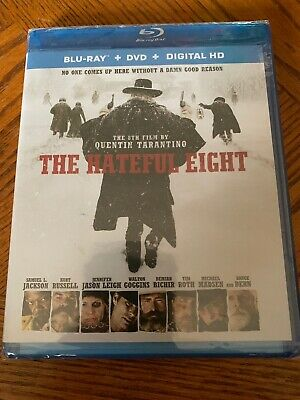 NEW The Hateful Eight (Blu-ray/DVD, 2016, 2-Disc Set) Kurt Russell, FREE Ship