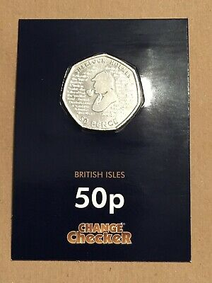 X1 Sherlock Holmes 50p Coins 2019 / ALL FROM SEALED BAGS / UNCIRCULATED / LOT3.