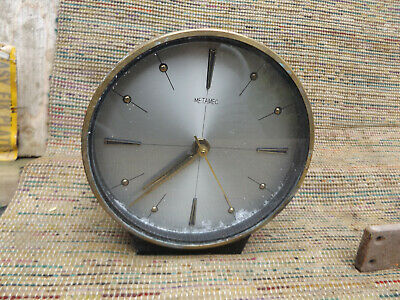 Vintage metal and Brass Metamec Mantle Clock