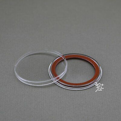 (25) Air-tite 39mm Red Velour Colored Ring Coin Holder Capsules for 1oz Silver