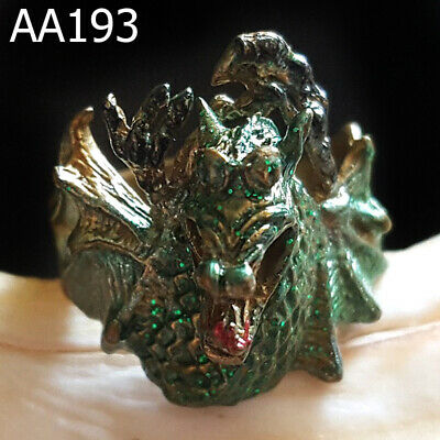 Enameled Medieval Knight Dragon Ring Talisman Amulet Magic Charm  #aa193a