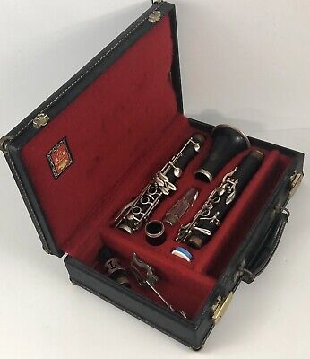 Original unrestored Vintage 1960's 'Double L' LeBlanc LL clarinet crystal MP