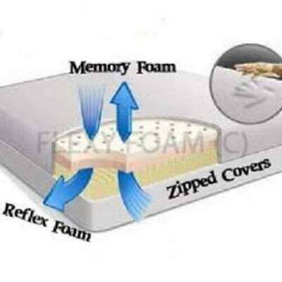 "ORTHOPEDIC Memory Foam Matress 6"" 8"" 10"" Thick Single Double Super King Size"