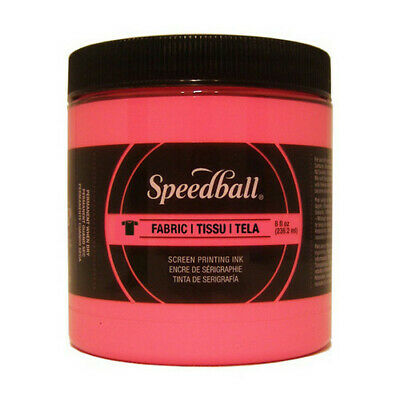 Speedball Art Products 4687 Fabric Screen Printing Ink 8Oz Fluorescent Hot Pink