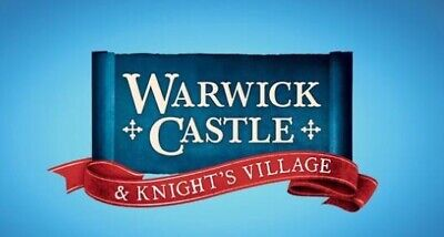 2 X WARWICK CASTLE Tickets for Sunday 22nd September, 2019