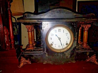 Antique Seth Thomas/Sessions Mantle Clock Beautiful Rare  (Runs)
