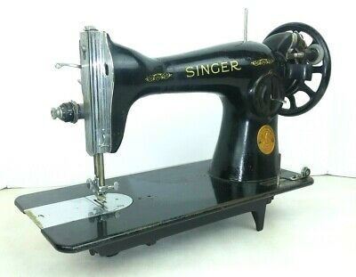 Singer Sewing Machine 5 Simanco 125255 USA Black Vintage Untested Late 40s