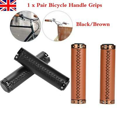 1 Pair Safety PU Leather MTB Bike Bicycle Handlebar Handle Bar Grips Covers