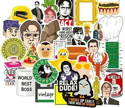 45 pieces The Office + Friends TV Show & mixed Stickers Sticker Pack. VIC