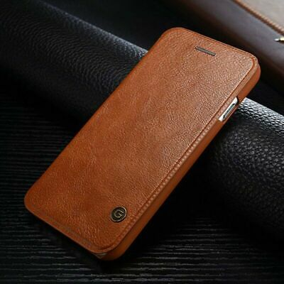 For iPhone XS MAX XR 8 7 Genuine G-CASE Vintage Leather Wallet Flip Case Cover
