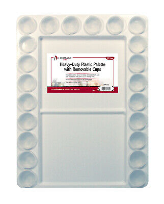 Alvin Hpp1115 Heritage Arts Heavy-Duty Plastic Palette With Removable Cups