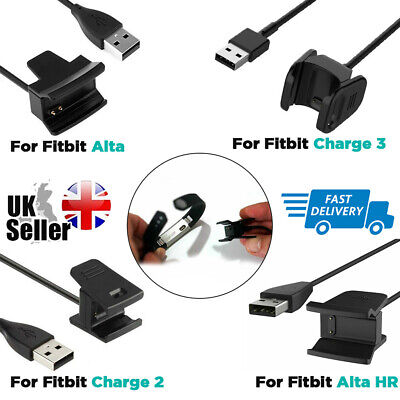 Portable USB Charger Charging Cable Lead for Fitbit Alta HR Charge 2 3 Wristband