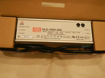 Mean Well LED HLG-185H-48A Switching Driver Power Supply 185 Watt 48V, 3. 9Amp