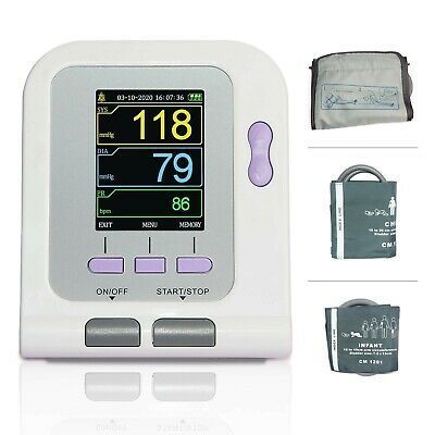 FDA Approved Fully Automatic Upper Arm Blood Pressure Monitor 3 mode 3 cuffs ...
