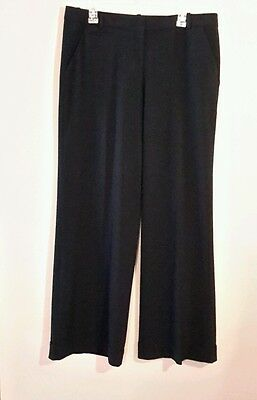 Jessica Simpson Women's Dream Chaser Wide Leg Black Slacks Size 15/16