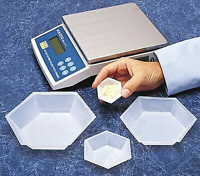 Brand New Plastic Hexagonal Weigh Boats Medium Dish 100pk