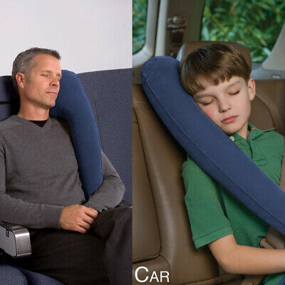 2PACK Blue Inflatable Travel Comfortable Pillow for Airplanes Cars Bus