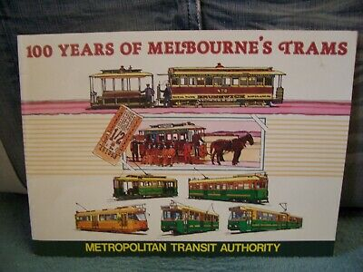 100 Years Of Melbourne's Trams 1985 Promo Book THE MET
