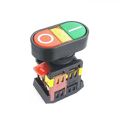 AC 600V 10A Indicator Light ON OFF START STOP Momentary Push Button Switch 22mm