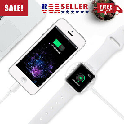 New 2 in 1 For Apple watch Charger & iPhone Magnetic Charging Cable cable iwatch