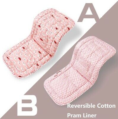 Reversible Cotton Filled Pram Liners Seat Liners Pram & Stroller Accessories