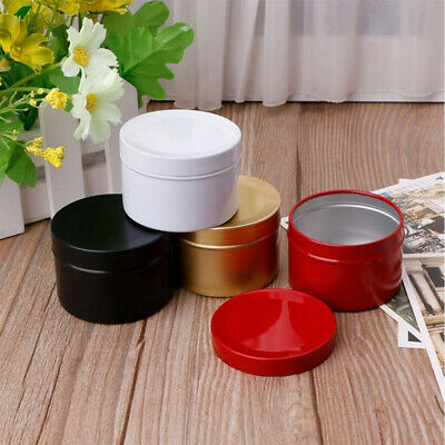 Solid Small Mini Metal Tin Canisters Tea Sugar Tea Container Storage Box Jar
