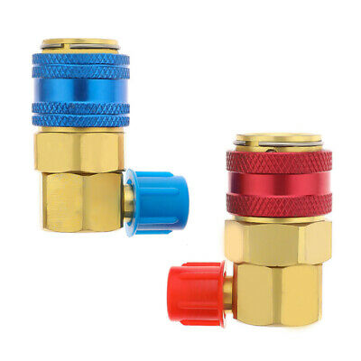 R134a Car Air Conditioning And Fluoride Quick Connector High Low Angle Adapter