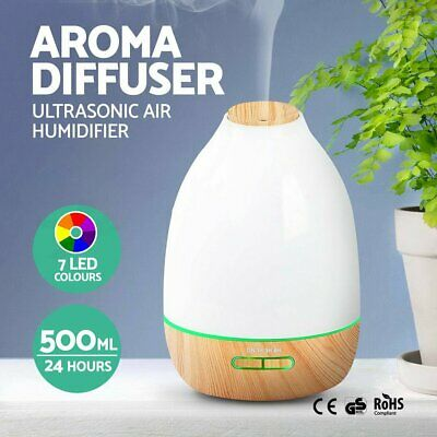 500ml LED Aroma Diffuser Essential Oil Aromatherapy Purifier Air Humidifier Mist