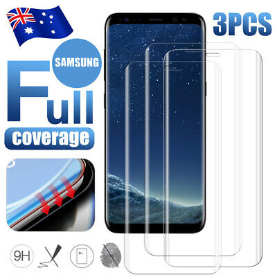 3x 6D 9H HD Full Coverage Tempered Glass Screen Protector for Samsung S10 S9 S8