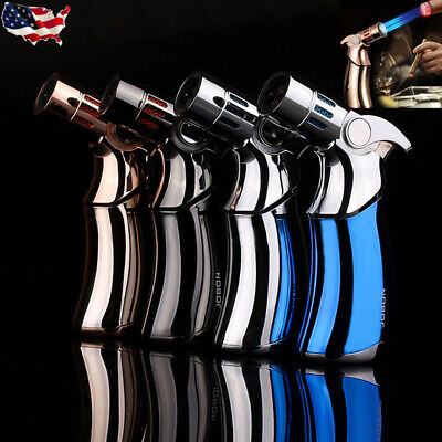 Jobon Four Torch Jet Adjustable Flame Refillable Cigarette Cigar Lighter