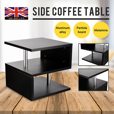 Side Stand End Coffee Table Two-layers Shelf for Tea Snack Sofa Bedroom Leisure
