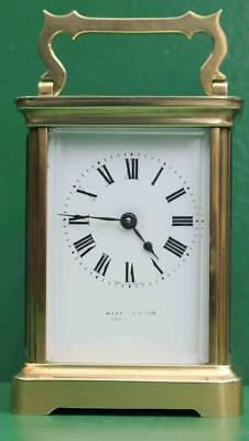 Mappin & Webb Antique French Couaillet Freres 8 Day Corniche Carriage Clock