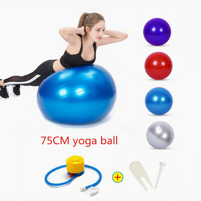 Exercise Gym Yoga Swiss Ball Fitness Pregnancy Birthing Anti Burst Core + Pump